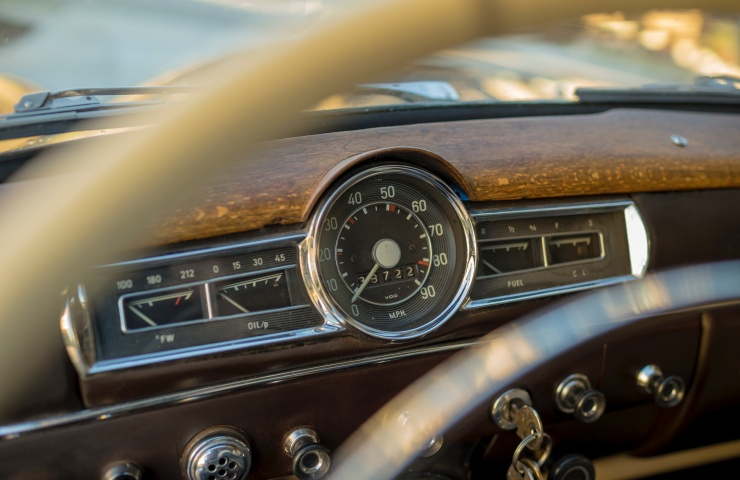 photo of vintage steering wheel