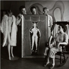 photo of mannequin, painting, artists