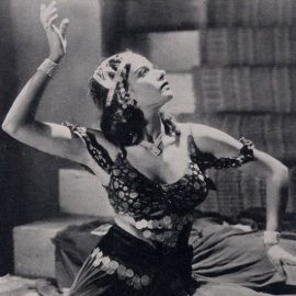 photo of dancer Azurie posed with hand over head