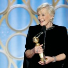 photo of Glenn Close accepting Golden Globe